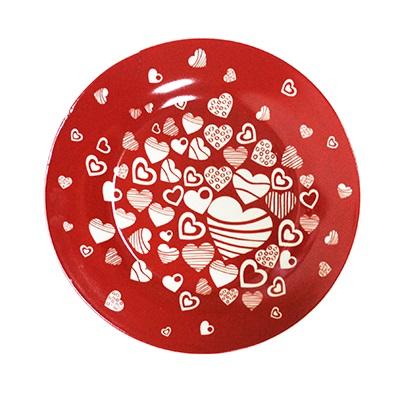 802-377 FARFALLE Блюдо для торта Сердечки, 25см, фрф, подар.упак