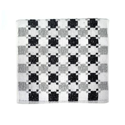 484-220 VETTA Полотенце банное, 100% хлопок Quadrato 50x90см, чёрно-белое арт FBS900-26