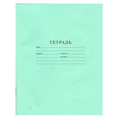 526-054 Тетрадь 12 листов в линейку, зеленая