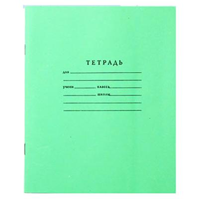 526-055 Тетрадь 12 листов косая линейка (зеленая) арт.Т1204/Б