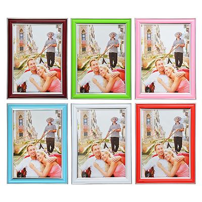 520-023 Фоторамка пластик 10х15см, 6 цветов, D3-6