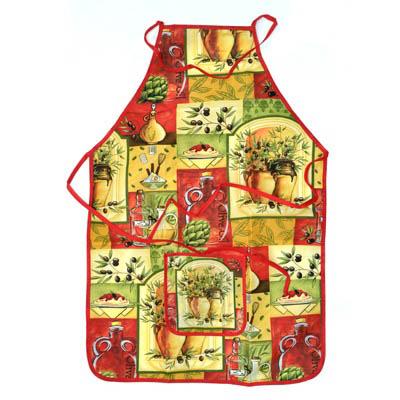 439-156 VETTA Kitchen Фартук, полиэстер, 51x76см, Olive garden