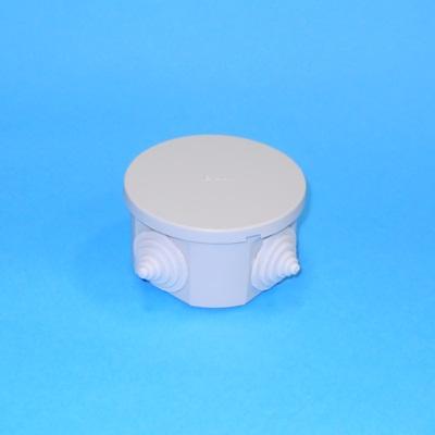 901-007 Коробка распаячная для открытой проводки D 75х40мм IP44 (RAL7035, 4 гермоввода), UKO11-075-040-000