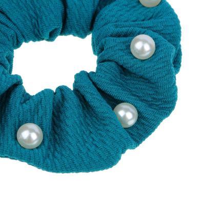 356-297 Резинка для волос бархат с камнями BERIOTTI, d.7 см, 6 цветов