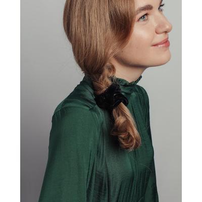 356-299 Резинка для волос бархат, полиэстер, d6 см, 6 цветов