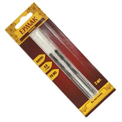 Сверло по металлу Р6М5 4мм. 2шт.
