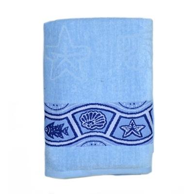 484-226 VETTA Полотенце банное, 100% хлопок Санторини синее 50x90см
