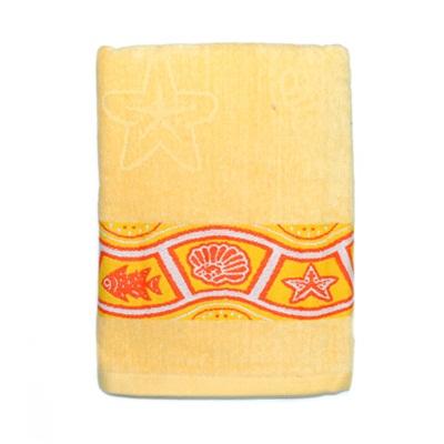 484-228 VETTA Полотенце банное, 100% хлопок Санторини желтое 50x90см