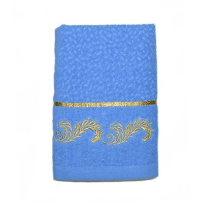 484-232 VETTA Полотенце банное, 100% хлопок, 50x100см, Барокко синее