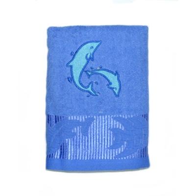 484-239 VETTA Полотенце банное, 100% хлопок, 50x100см, Флиппер голубое
