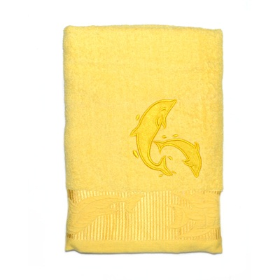 484-242 VETTA Полотенце банное, 100% хлопок, 50x100см, Флиппер жёлтое
