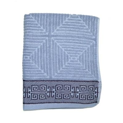 484-252 VETTA Полотенце банное, 100% хлопок Македония голубое 48x90см