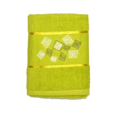 484-269 VETTA Полотенце банное, 100% хлопок Румба зелёное 50x90см