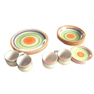 """818-002 Набор столовой посуды 16 пр. """"Полосы светлые"""""""