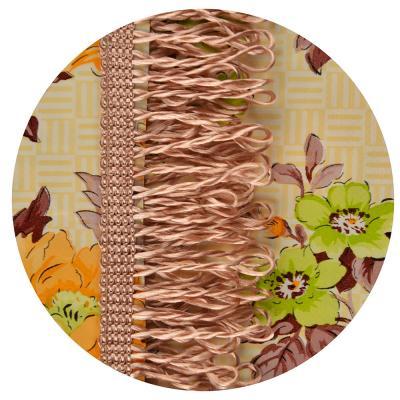 479-020 Скатерть на стол виниловая клеенка с бахромой, 140x180см