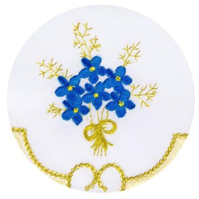 436-012 Комплект: скатерть на стол с вышивкой 150x220см, 12 салфеток, полиэстер