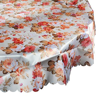 436-028 Скатерть на стол круглая, полиэстер, d140см
