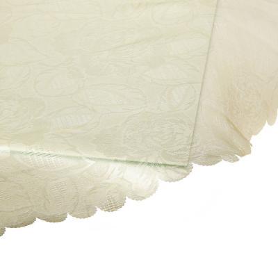 435-002 Скатерть на стол овальная, жаккард, 140х180см