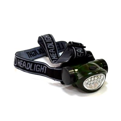 328-034 Фонарик налобный пластиковый, со светодиодами, 10 LED, 3xAAА, BL-603M-10
