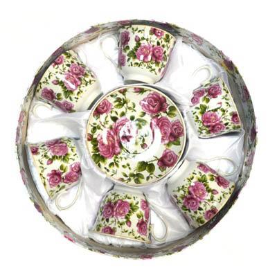 802-388 Набор чайный 12 пр. Розовый вальс 230мл арт.126-1