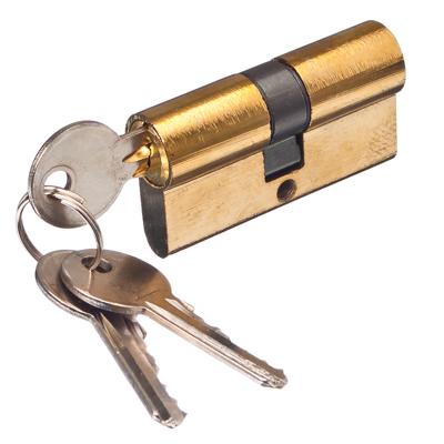 610-010 Сердцевина замка/ Цилиндровый механизм (алюминий/цинк) 60мм(30+30), кл-кл, 3кл (англ), золото
