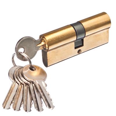 610-016 Сердцевина замка/ Цилиндровый механизм (алюминий/цинк) 70мм(35+35), кл-кл, 6кл (англ), золото
