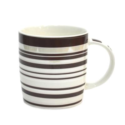 806-187 Кружка 350мл, фрф, Line коричневая mix 4