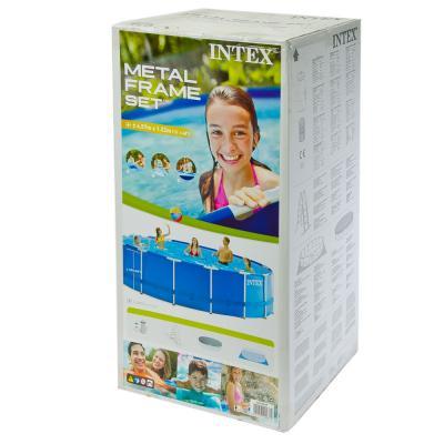 359-055 INTEX Бассейн каркас.метал, 457x122см, Frame Pool, 54946/28236