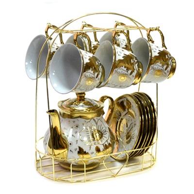802-460 Набор чайный 13 пр. на металл стойке 220мл арт.E01-3