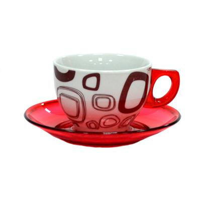 802-466 Набор чайный 12 пр. керамика+пластик А-133