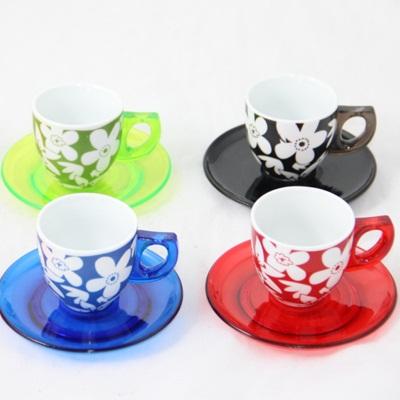 802-472 Набор кофейный 12 пр. керамика+пластик А-101В