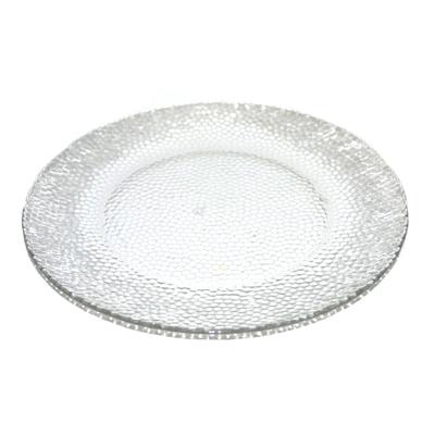 818-163 Тарелка мелкая d25см прозрачное стекло TR-P1098