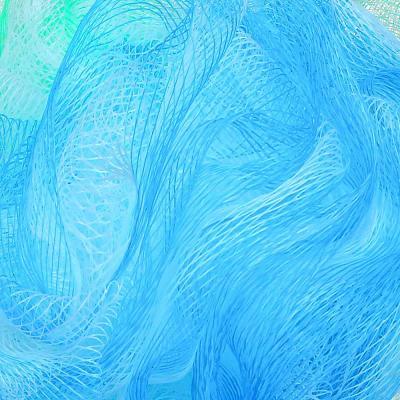"361-012 Мочалка-спонж ""Шар"", трехцветная 40гр, 4 цвета"
