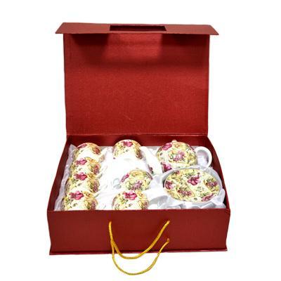 802-530 Набор чайный 14 пр. (6 чайных пар 250мл+чайник 600мл+сахарница) Шиповник 14/MB02P2