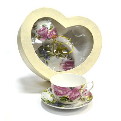 802-541 Набор чайный 4 пр. Розы и ромашки 240мл 4/МВ0725