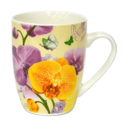 806-379 Кружка 350мл, Орхидея ВРМ099