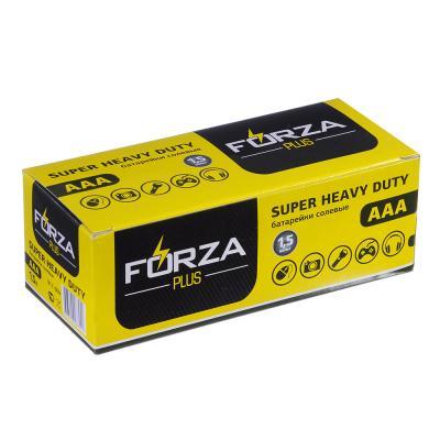 """917-009 Батарейк солевые, 4 шт, тип AAA (R03), плёнка, FORZA """"Super heavy duty"""""""