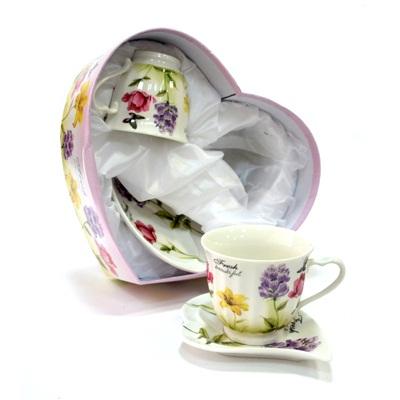"""802-025 Набор чайный 4 пр. """"Цветочный аромат"""" 200мл, в подароч.упак., фрф"""