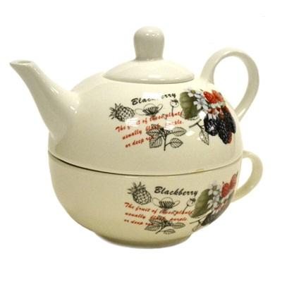 802-036 Ежевика Набор чайный 2 пр. (чайник 450мл, кружка 300мл), фрф