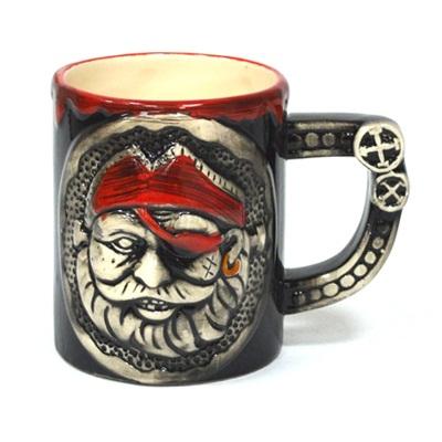 """806-566 Кружка пивная 350мл, керамика, """"Пираты"""", микс, 8011"""