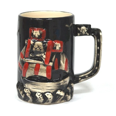 "816-226 Бокал пивной 850мл, керамика, ""Пираты"", микс 8001"