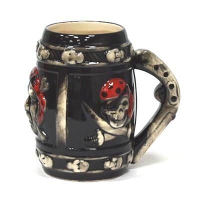 "806-565 Бокал пивной 650мл, керамика, ""Пираты"", микс 2092"