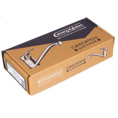 566-168 Смеситель для кухни, керамический картридж 40 мм, шпилька, хром, без подводки, Klabb 13