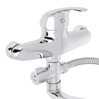 566-169 Смеситель для ванны, длинный изогнутый излив, керамический картридж 40 мм, хром, Klabb 13