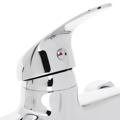 566-172 Смеситель для ванны, длинный изогнутый излив 30 см, керамический картридж 35 мм, хром, Klabb 15