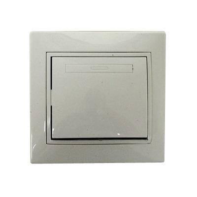 904-003 Выключатель Гранд одноклавишный, цвет белый, R1801