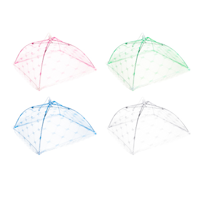 159-002 Чехол-зонтик для пищи, полиэстер, 40х40 см, 4 цвета, 49х8х2,5
