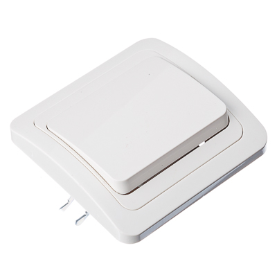 904-008 FORZA Классика Выключатель одноклавишный, цвет белый 10А 250В, огнеупорный пластик