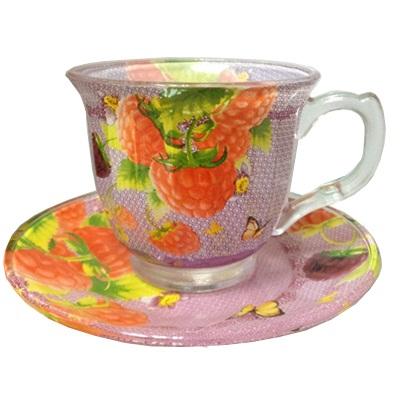 """802-039 VETTA Набор чайный 12 пр. """"Малина"""", 220мл, стекло, в подароч. упак."""