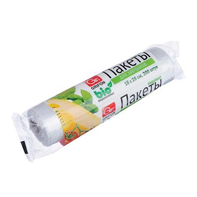 438-013 GRIFON Пакеты для завтраков Bio 200шт, 1л 18x28см, в рулоне, 100-001